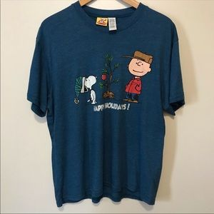 Peanuts T-shirt Happy Holidays Christmas L